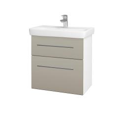Dreja - Kúpeľňová skriňa GO SZZ2 60 - N01 Bílá lesk / Úchytka T02 / L04 Béžová vysoký lesk (148669B)