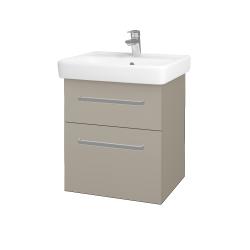 Dreja - Kúpeľňová skriňa Q MAX SZZ2 55 - L04 Béžová vysoký lesk / Úchytka T01 / L04 Béžová vysoký lesk (114831A)