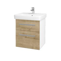 Dreja - Kúpeľňová skriňa Q MAX SZZ2 55 - N01 Bílá lesk / Úchytka T01 / D09 Arlington (114633A)