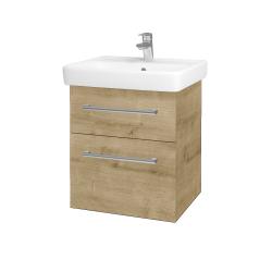 Dreja - Kúpeľňová skriňa Q MAX SZZ2 55 - D09 Arlington / Úchytka T03 / D09 Arlington (149000C)