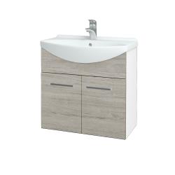 Dreja - Kúpeľňová skriňa TAKE IT SZD2 65 - N01 Bílá lesk / Úchytka T03 / D05 Oregon (151966C)