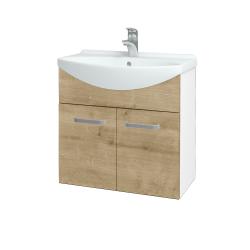 Dreja - Kúpeľňová skriňa TAKE IT SZD2 65 - N01 Bílá lesk / Úchytka T01 / D09 Arlington (151997A)