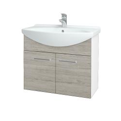 Dreja - Kúpeľňová skriňa TAKE IT SZD2 75 - N01 Bílá lesk / Úchytka T03 / D05 Oregon (152055C)