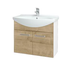 Dreja - Kúpeľňová skriňa TAKE IT SZD2 75 - N01 Bílá lesk / Úchytka T03 / D09 Arlington (152086C)