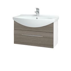 Dreja - Kúpeľňová skriňa TAKE IT SZZ 75 - N01 Bílá lesk / Úchytka T02 / D03 Cafe (152482B)