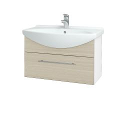 Dreja - Kúpeľňová skriňa TAKE IT SZZ 75 - N01 Bílá lesk / Úchytka T02 / D04 Dub (152499B)