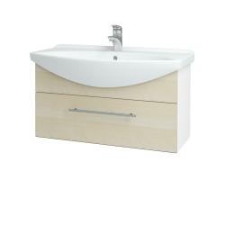 Dreja - Kúpeľňová skriňa TAKE IT SZZ 85 - N01 Bílá lesk / Úchytka T02 / D02 Bříza (152567B)