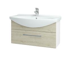 Dreja - Kúpeľňová skriňa TAKE IT SZZ 85 - N01 Bílá lesk / Úchytka T03 / D05 Oregon (152598C)