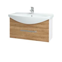 Dreja - Kúpeľňová skriňa TAKE IT SZZ 85 - N01 Bílá lesk / Úchytka T01 / D09 Arlington (152628A)