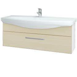 Dreja - Kúpeľňová skriňa TAKE IT SZZ 120 - N01 Bílá lesk / Úchytka T01 / D02 Bříza (152741A)
