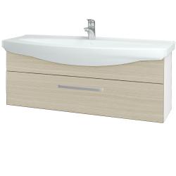 Dreja - Kúpeľňová skriňa TAKE IT SZZ 120 - N01 Bílá lesk / Úchytka T01 / D04 Dub (152765A)