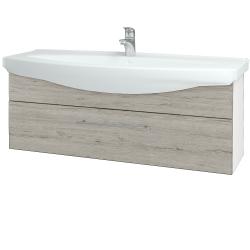 Dreja - Kúpeľňová skriňa TAKE IT SZZ 120 - N01 Bílá lesk / Úchytka T02 / D05 Oregon (152772B)