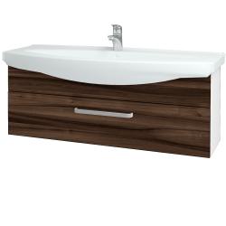 Dreja - Kúpeľňová skriňa TAKE IT SZZ 120 - N01 Bílá lesk / Úchytka T01 / D06 Ořech (152789A)