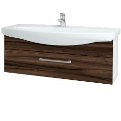 Dreja - Kúpeľňová skriňa TAKE IT SZZ 120 - N01 Bílá lesk / Úchytka T03 / D06 Ořech (152789C)