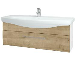 Dreja - Kúpeľňová skriňa TAKE IT SZZ 120 - N01 Bílá lesk / Úchytka T02 / D09 Arlington (152802B)