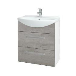 Dreja - Kúpeľňová skriňa TAKE IT SZZ2 65 - N01 Bílá lesk / Úchytka T01 / D01 Beton (152826A)