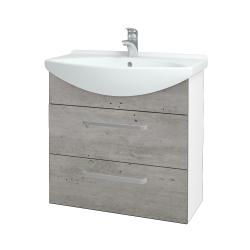 Dreja - Kúpeľňová skriňa TAKE IT SZZ2 75 - N01 Bílá lesk / Úchytka T01 / D01 Beton (152918A)