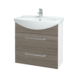 Dreja - Kúpeľňová skriňa TAKE IT SZZ2 75 - N01 Bílá lesk / Úchytka T03 / D03 Cafe (152932C)