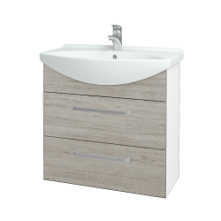 Dreja - Kúpeľňová skriňa TAKE IT SZZ2 75 - N01 Bílá lesk / Úchytka T01 / D05 Oregon (152956A)