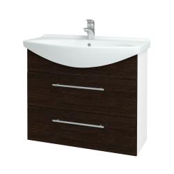 Dreja - Kúpeľňová skriňa TAKE IT SZZ2 85 - N01 Bílá lesk / Úchytka T02 / D08 Wenge (153069B)