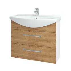 Dreja - Kúpeľňová skriňa TAKE IT SZZ2 85 - N01 Bílá lesk / Úchytka T03 / D09 Arlington (153076C)