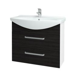 Dreja - Kúpeľňová skriňa TAKE IT SZZ2 85 - N01 Bílá lesk / Úchytka T01 / D14 Basalt (153083A)