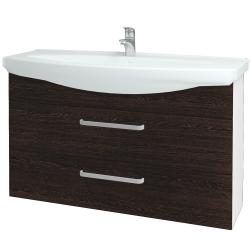Dreja - Kúpeľňová skriňa TAKE IT SZZ2 120 - N01 Bílá lesk / Úchytka T01 / D08 Wenge (153298A)