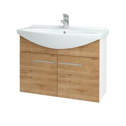 Dreja - Kúpeľňová skriňa TAKE IT SZD2 85 - N01 Bílá lesk / Úchytka T02 / D09 Arlington (152178B)