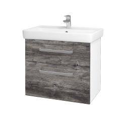 Dreja - Kúpeľňová skriňa Q MAX SZZ2 70 - N01 Bílá lesk / Úchytka T01 / D10 Borovice Jackson (198398A)