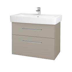 Dreja - Kúpeľňová skriňa Q MAX SZZ2 80 - M05 Béžová mat / Úchytka T03 / M05 Béžová mat (198589C)