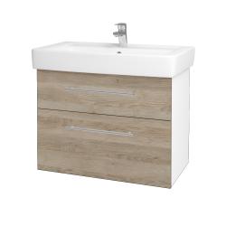 Dreja - Kúpeľňová skriňa Q MAX SZZ2 80 - N01 Bílá lesk / Úchytka T02 / D17 Colorado (198626B)