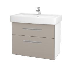 Dreja - Kúpeľňová skriňa Q MAX SZZ2 80 - N01 Bílá lesk / Úchytka T01 / N07 Stone (198671A)