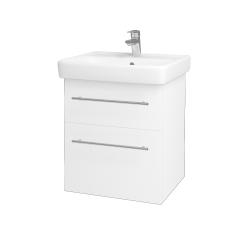 Dreja - Kúpeľňová skriňa Q MAX SZZ2 55 - N01 Bílá lesk / Úchytka T02 / M01 Bílá mat (198060B)