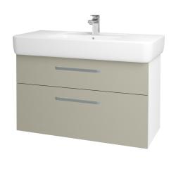 Dreja - Kúpeľňová skriňa Q MAX SZZ2 100 - N01 Bílá lesk / Úchytka T01 / M05 Béžová mat (198831A)