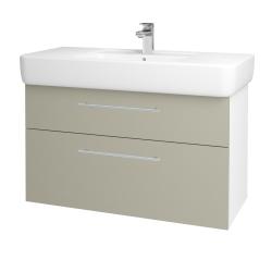 Dreja - Kúpeľňová skriňa Q MAX SZZ2 100 - N01 Bílá lesk / Úchytka T02 / M05 Béžová mat (198831B)