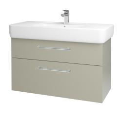 Dreja - Kúpeľňová skriňa Q MAX SZZ2 100 - M05 Béžová mat / Úchytka T03 / M05 Béžová mat (198787C)