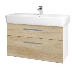 Dreja - Kúpeľňová skriňa Q MAX SZZ2 100 - N01 Bílá lesk / Úchytka T01 / D15 Nebraska (198800A)