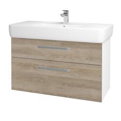 Dreja - Kúpeľňová skriňa Q MAX SZZ2 100 - N01 Bílá lesk / Úchytka T01 / D17 Colorado (198923A)