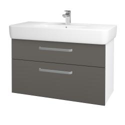 Dreja - Kúpeľňová skriňa Q MAX SZZ2 100 - N01 Bílá lesk / Úchytka T01 / N06 Lava (198855A)