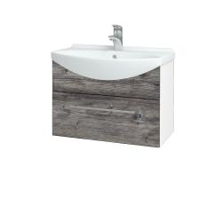 Dreja - Kúpeľňová skriňa TAKE IT SZZ 65 - N01 Bílá lesk / Úchytka T02 / D10 Borovice Jackson (206680B)