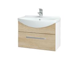 Dreja - Kúpeľňová skriňa TAKE IT SZZ 65 - N01 Bílá lesk / Úchytka T01 / D15 Nebraska (206697A)