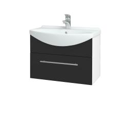 Dreja - Kúpeľňová skriňa TAKE IT SZZ 65 - N01 Bílá lesk / Úchytka T02 / N03 Graphite (206727B)