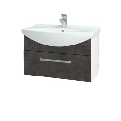 Dreja - Kúpeľňová skriňa TAKE IT SZZ 75 - N01 Bílá lesk / Úchytka T01 / D16 Beton tmavý (206864A)