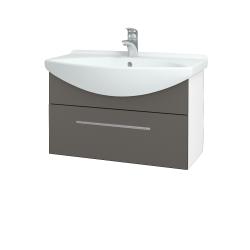 Dreja - Kúpeľňová skriňa TAKE IT SZZ 75 - N01 Bílá lesk / Úchytka T02 / N06 Lava (206895B)