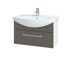 Dreja - Kúpeľňová skriňa TAKE IT SZZ 75 - N01 Bílá lesk / Úchytka T03 / N06 Lava (206895C)