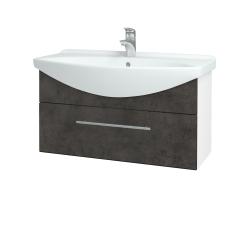 Dreja - Kúpeľňová skriňa TAKE IT SZZ 85 - N01 Bílá lesk / Úchytka T02 / D16 Beton tmavý (207021B)