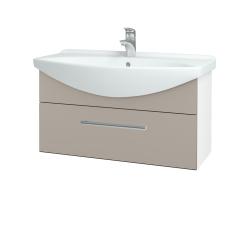 Dreja - Kúpeľňová skriňa TAKE IT SZZ 85 - N01 Bílá lesk / Úchytka T03 / N07 Stone (207069C)