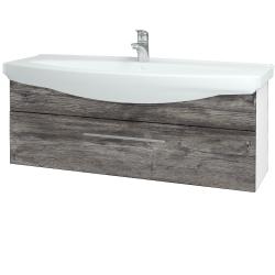 Dreja - Kúpeľňová skriňa TAKE IT SZZ 120 - N01 Bílá lesk / Úchytka T02 / D10 Borovice Jackson (207328B)