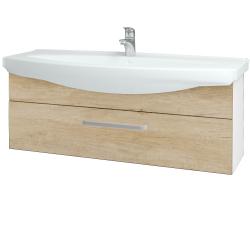 Dreja - Kúpeľňová skriňa TAKE IT SZZ 120 - N01 Bílá lesk / Úchytka T01 / D15 Nebraska (207335A)