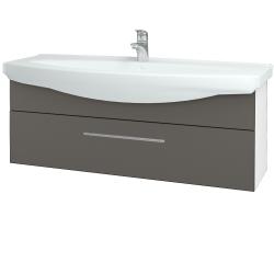 Dreja - Kúpeľňová skriňa TAKE IT SZZ 120 - N01 Bílá lesk / Úchytka T02 / N06 Lava (207373B)